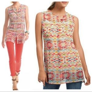 Cabi Style 760 Avery Aztec Sheer Sleeveless Tunic